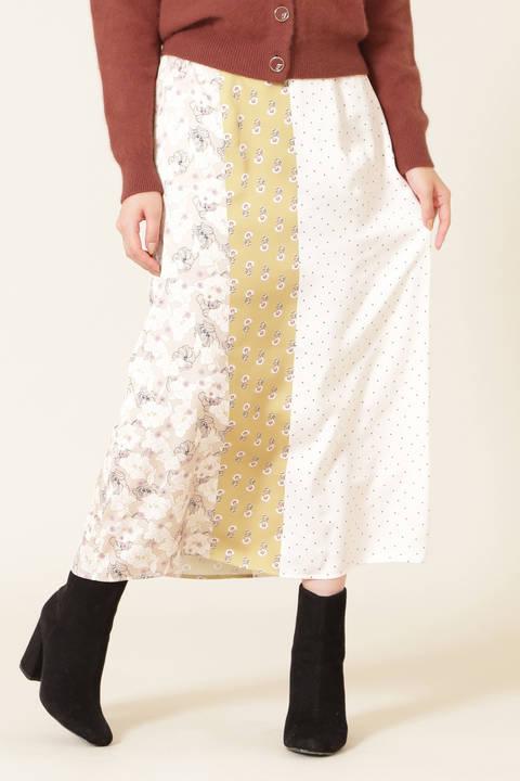 レトロミックスプリントスカート