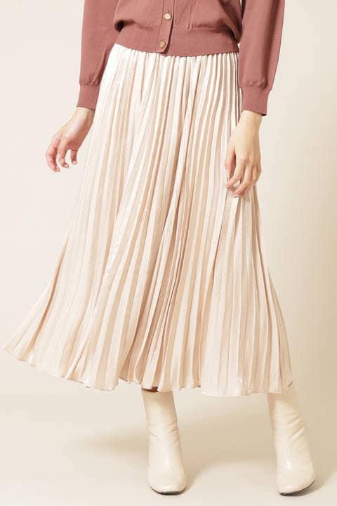 シャインロングプリーツスカート