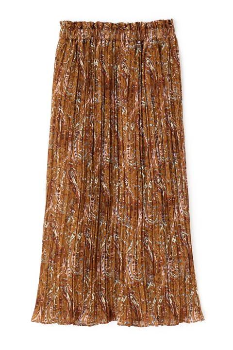 ぼかし柄ナロープリーツスカート