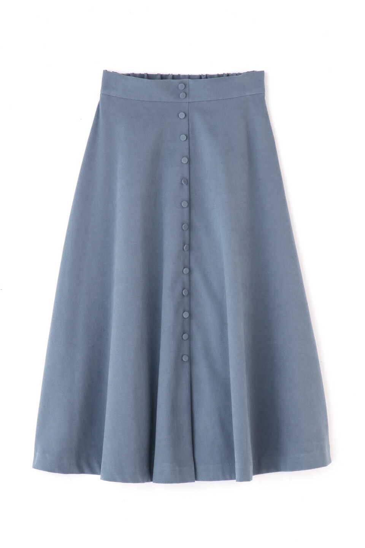 【公式/フリーズマート】フロントボタンフレアースカート/女性/スカート/ライトブルー/サイズ:FR/(表生地)ポリエステル 97% ポリウレタン 3%(裏生地)ポリエステル 100%