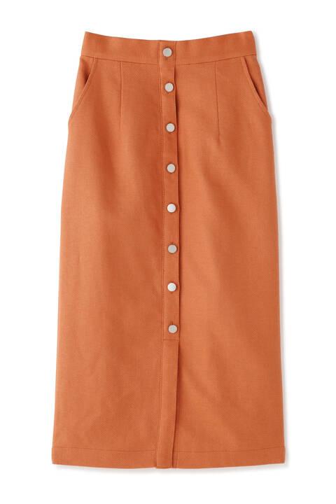 ヘリンボーン前ボタンタイトスカート