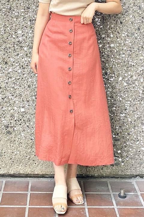麻調合繊ロングスカート