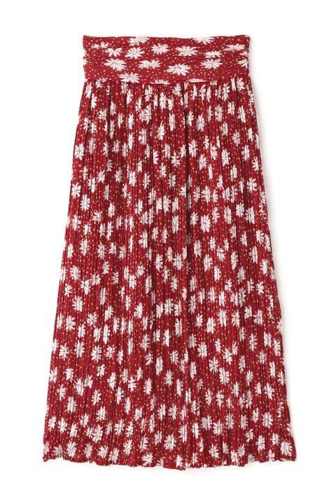 ボタニカルIラインランダムプリーツスカート