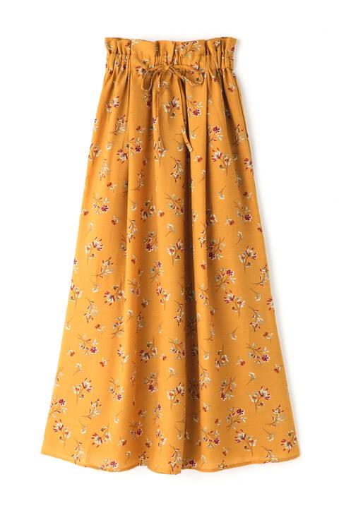 花柄ナローマキシスカート