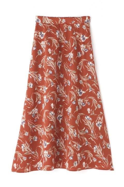 チューリップ柄フレアロングスカート