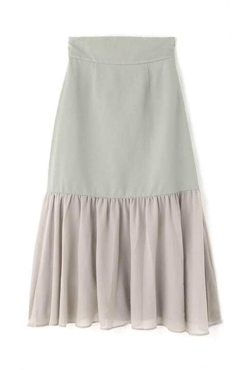 シアー切り替えAラインスカート
