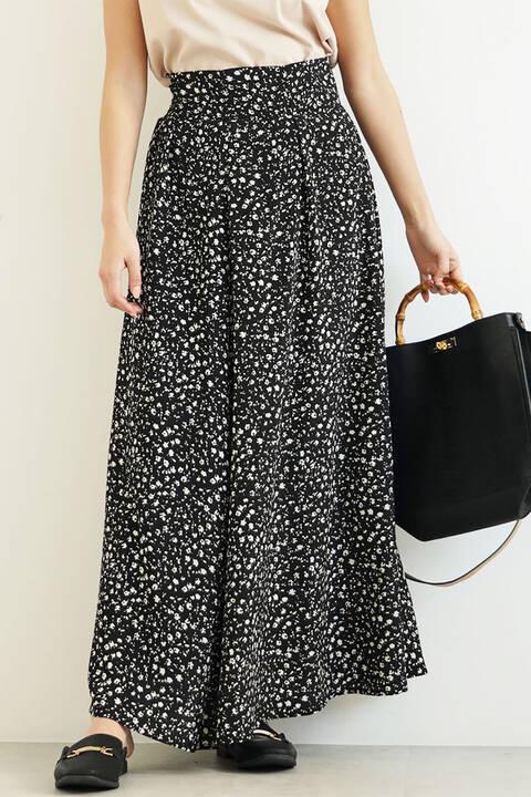 レトロフラワーマキシスカート