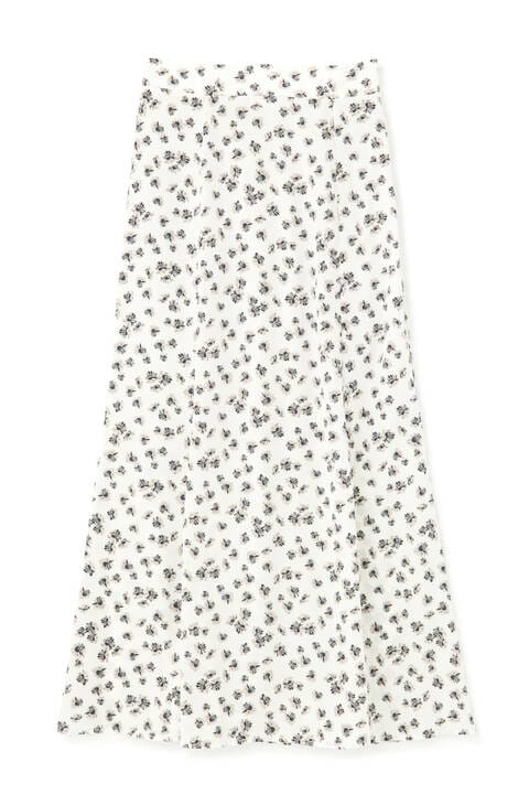 マーガレット柄マーメイドラインスカート