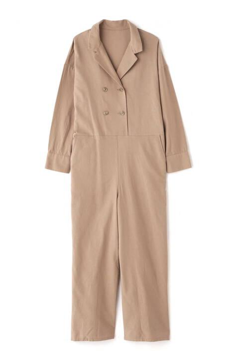 開襟長袖ジャンプスーツ