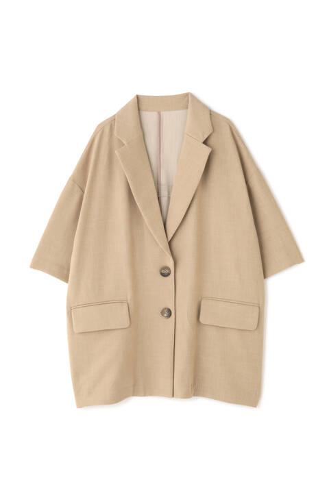 《Sシリーズ対応商品》五分袖ビッグシルエットジャケット