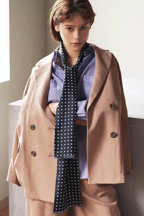麻調合繊Wブレストジャケット