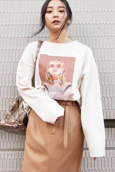 デコレーションモデルプリントTシャツ