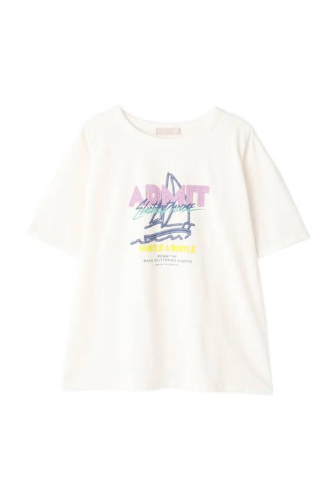 ネオンロゴプリントTシャツ