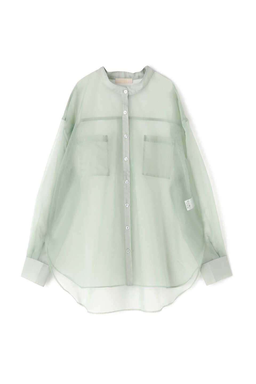 【公式/フリーズマート】オーガンジーシースルーシャツ/女性/ブラウス/ライトブルー/サイズ:FR/ナイロン 100%