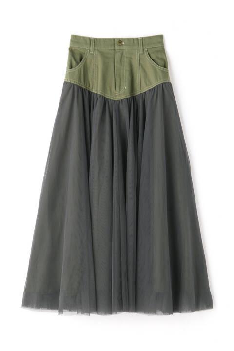 【先行予約6月下旬-7月上旬入荷予定】ツイルドッキングチュールスカート