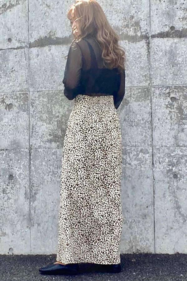 レオパードマキシスカート