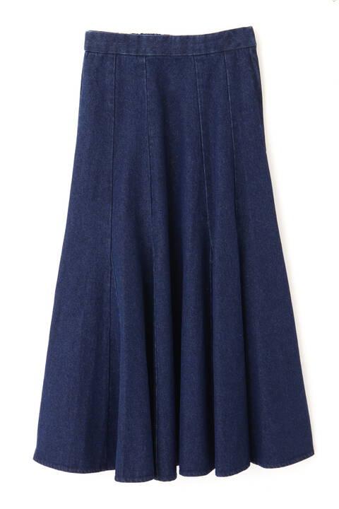三角マチデニムマーメイドスカート