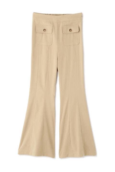 《Sシリーズ対応商品》パッチポケット裾フレアパンツ