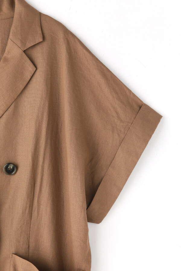 《Sシリーズ対応商品》綿麻ドロップフレンチスリーブジャケット