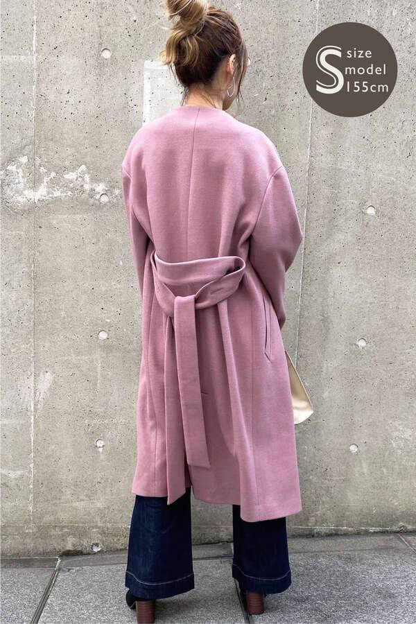 《Sシリーズ対応商品》ジャージメルトンVカラーコート