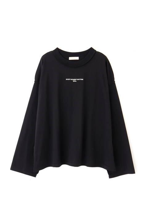 バックロゴ刺繍ロングスリーブTシャツ
