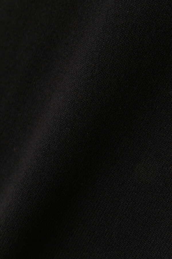 総針クルーネックノースリ―ブニット