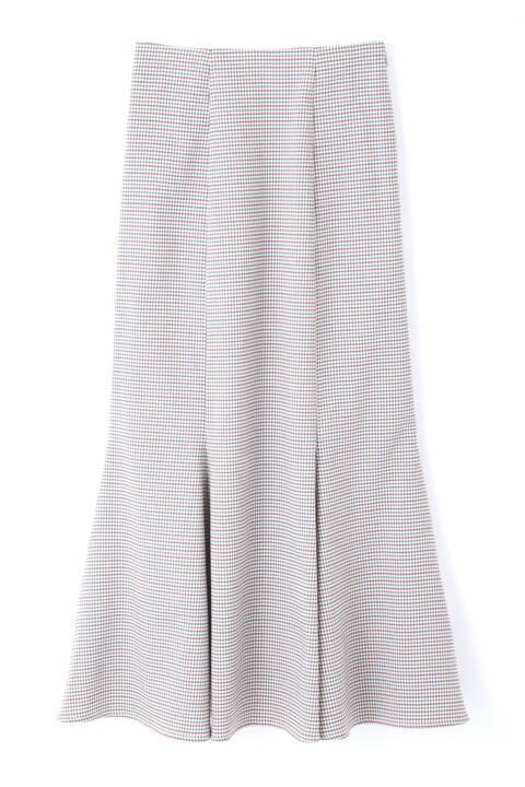 カラーチェックマーメイドスカート