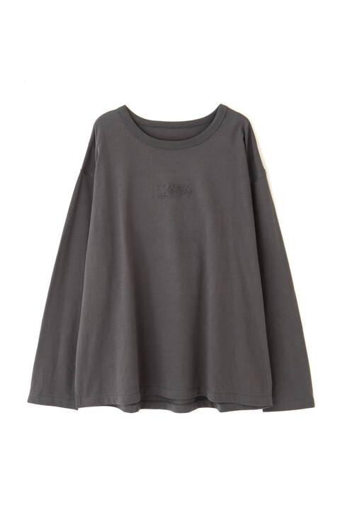 エンボスロゴバックフォトプリントTシャツ