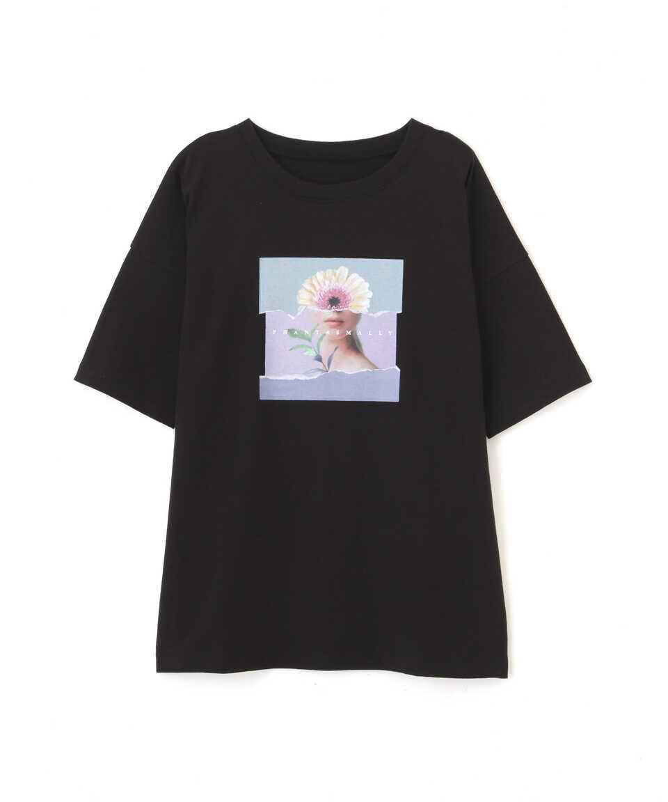 【公式/フリーズマート】アートプリントビッグTシャツ/女性/カットソー/ブラック/サイズ:FR/コットン 100%