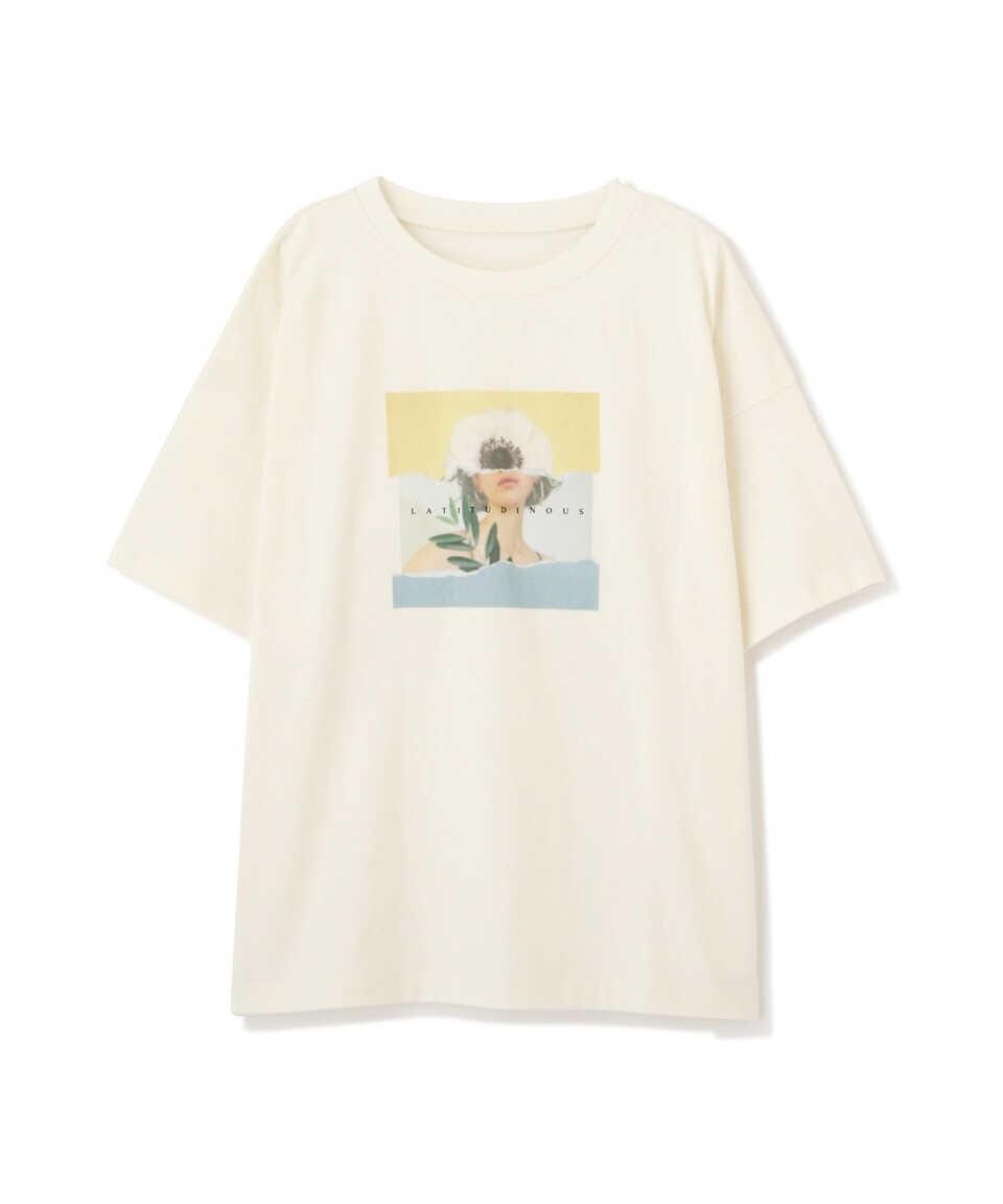 【公式/フリーズマート】アートプリントビッグTシャツ/女性/カットソー/ホワイト/サイズ:FR/コットン 100%