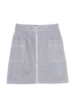 【堀田茜さん着用アイテム・17SSMOOK BOOK掲載】フロントリングジップピーチツイルスカート
