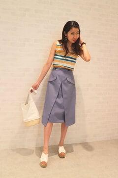 重ねAラインスカート