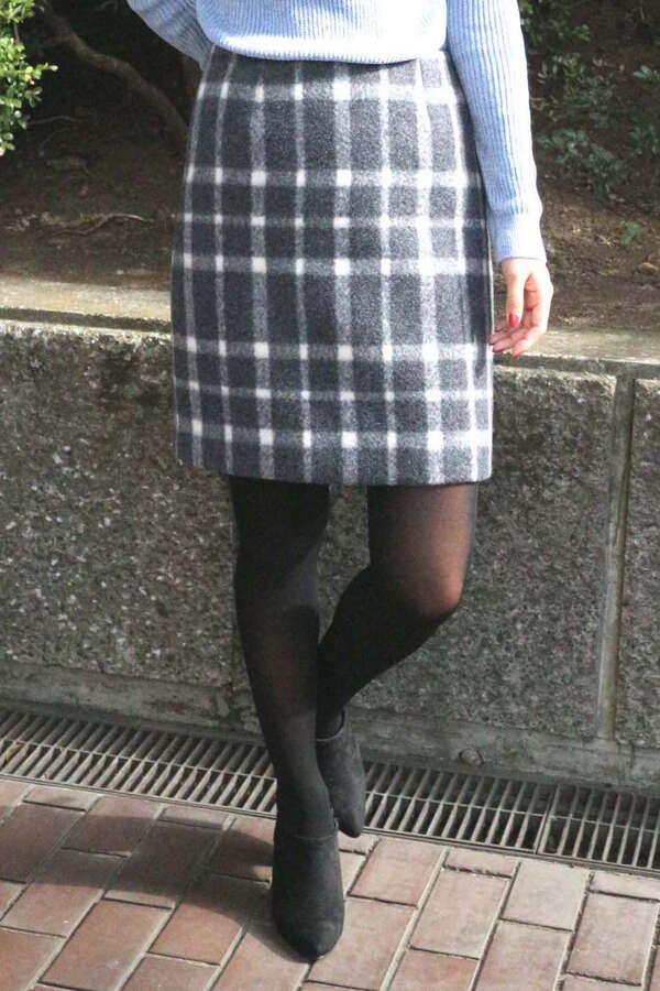 【Ray掲載】シャギーチェックミニスカート