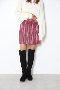 カラフルヘリンボーンスカート
