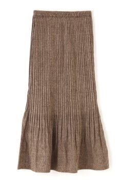 裾消しプリーツペンシルスカート
