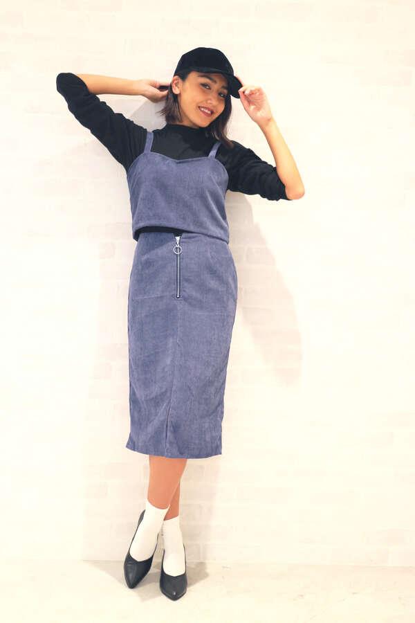 【 CanCam12月号 AAA宇野ちゃん着用】コーデュロイペンシルスカート