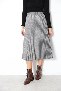 【MOOK本 宮田聡子さん着用商品】グレンチェックプリーツスカート