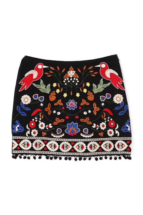 《Umgee》フロント刺繍スカート