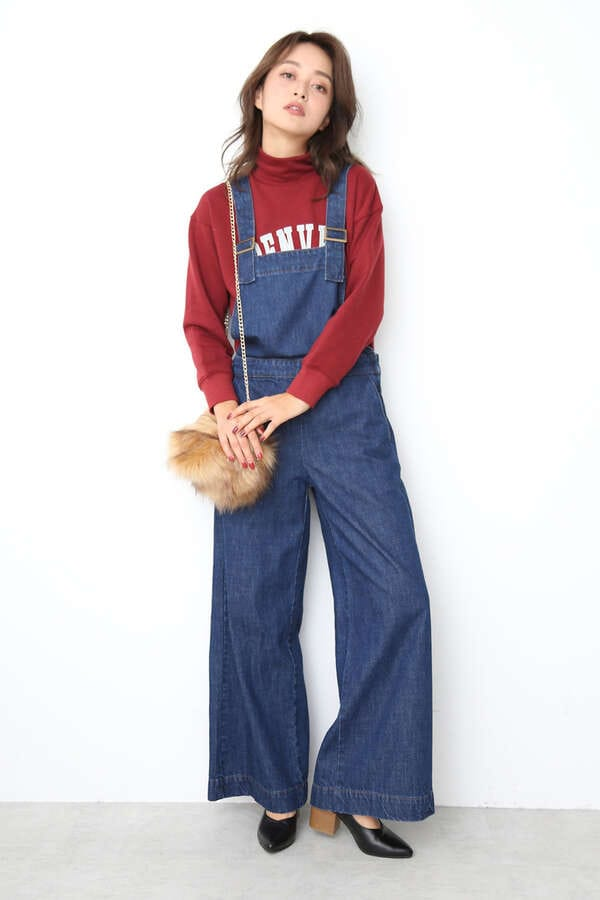 【MOOK本掲載ベッキーさん着用商品】デニムルーズサロペット