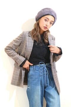 【JJ12月号掲載】グレンチェックテーラードジャケット