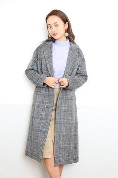 【MOOK本 宮田聡子さん着用商品】グレンチェックチェスターコート