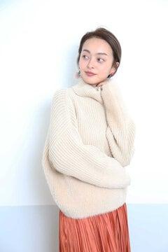 【MOOK本掲載ベッキーさん着用商品】裾シャギーニット