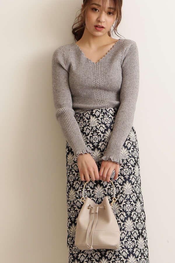 【MOOK本 ベッキーさん着用商品】【MOOK本 宮田聡子さん着用商品】切替ドロストショルダーバッグ