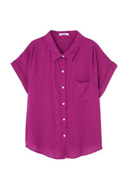 ラミーコットンフレンチスリーブシャツ