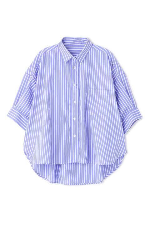 ストライプビッグシャツ