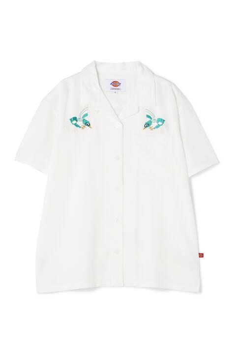 《Dickies》刺繍開襟シャツ