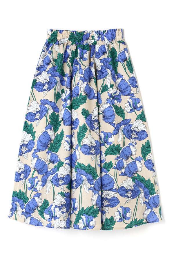フラワータックギャザースカート