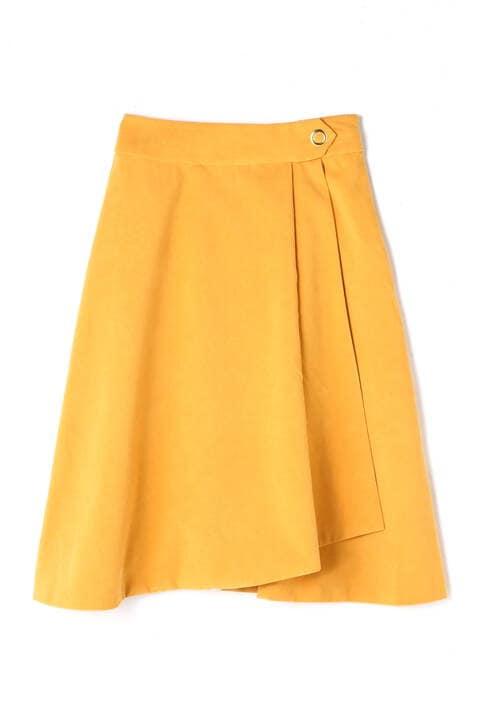 ラップ風タックAラインスカート