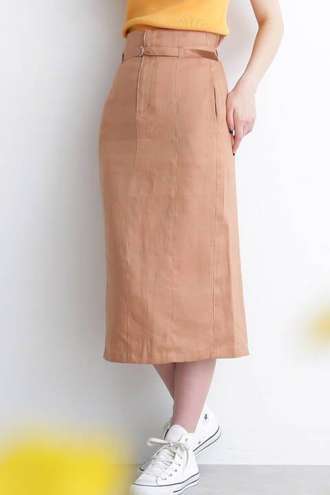 ベルト付カラーペンシルスカート