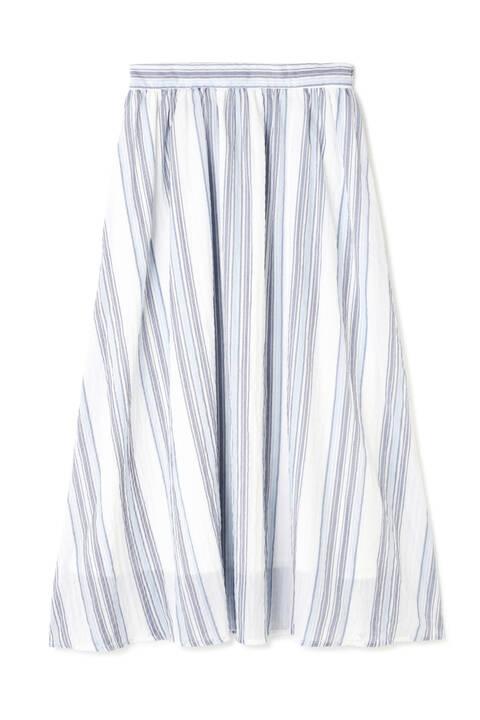マルチストライプミディスカート